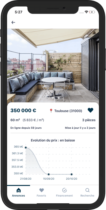 Application Isimmo IOS - Achat immobilier - Annonces immobilières
